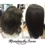 Окраска волос и процедура «Ботокс для волос».