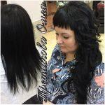 До и после. Укладка, накладные волосы. Мастер - Третьякова Ольга.