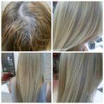 До и после. Растяжка на наращенные волосы. Paul Mitchell color. Ампульный концентрат. Мастер - Галина Кирдяшова