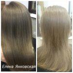 До и после. Ботокс для волос. Мастер парикмахер - Елена Янковская.
