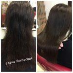 До и после. Процедура ботокс для волос. Мастер парикмахер Елена Янковская.