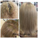 До и после. Окрашивание волос Paul Mitchell. Мастер парикмахер Елена Янковская.