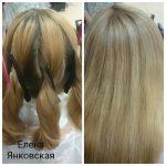 До и после. Окраска волос Paul Mitchell. Мастер — Елена Янковская.