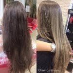 До и после. Окрашивание волос на натуральные волосы. Мастер — Стёпкина Юлия.