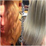 До и после. Окраска волос. Paul Mitchell. Мастер - Третьякова Ольга.