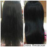 До и после. Процедура горячего восстановления для волос. Елена Янковская.