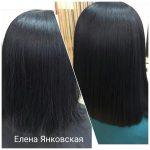 До и после. Ботокс для волос. Мастер — Елена Янковская.