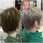 До и после. Окраска волос Paul Mitchell + стрижка. Мастер Третьякова Ольга.